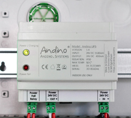 uninterruptable Power supply in the control cabinet